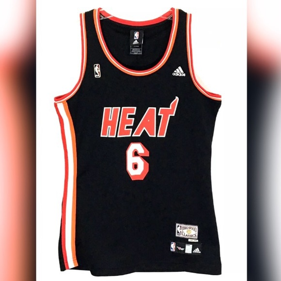 buy popular 9a3f4 cb60c Lebron James Miami Heat Throwback Jersey Hardwood
